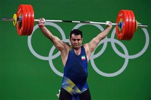 قهرمان المپیک ریو با رکورد شکنی قهرمان دسته 94 کیلوگرم وزنه برداری بازی های داخل سالن آسیا شد.
